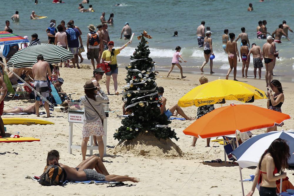 Рождество на пляже