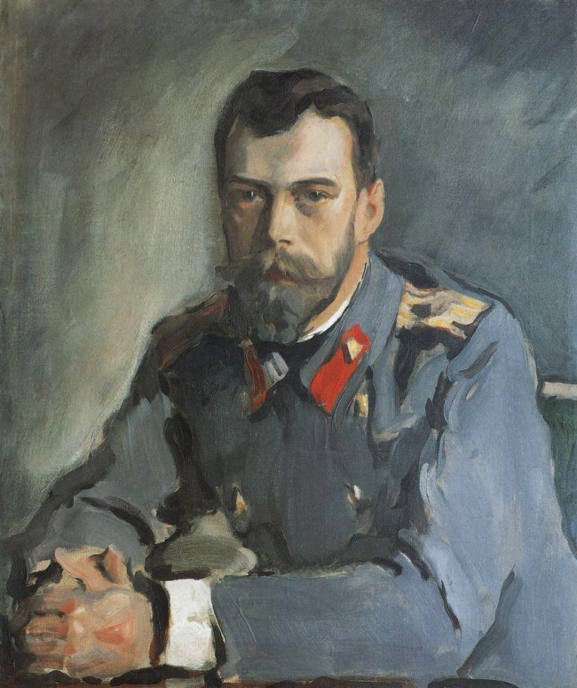 Валентин Серов, «Портрет Николая IIв тужурке», 1900 Долгое время Серов немог написать портрет царя