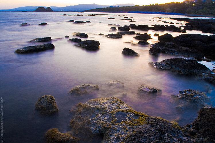 Вода сфотографированная с длинной выдержкой