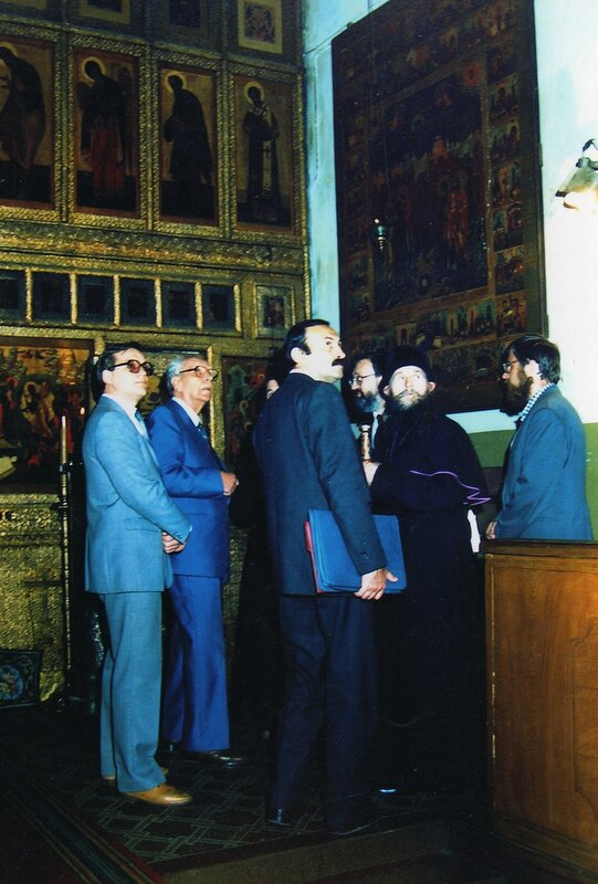 Д. С. Лихачев у старообрядцев. Москва. 02.07.1987..jpg