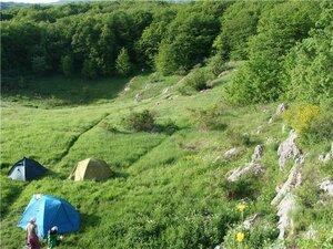 Лагерь внизу