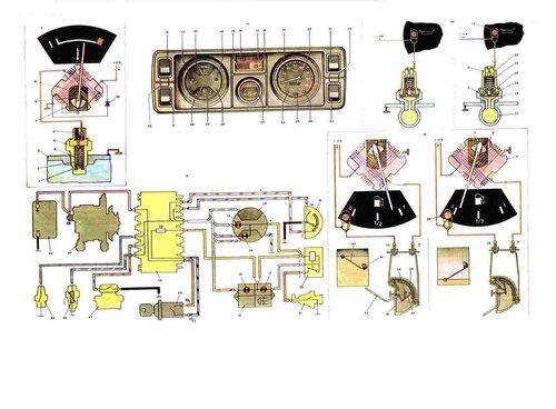 «приборы ВАЗ-2105 и ВАЗ-2104