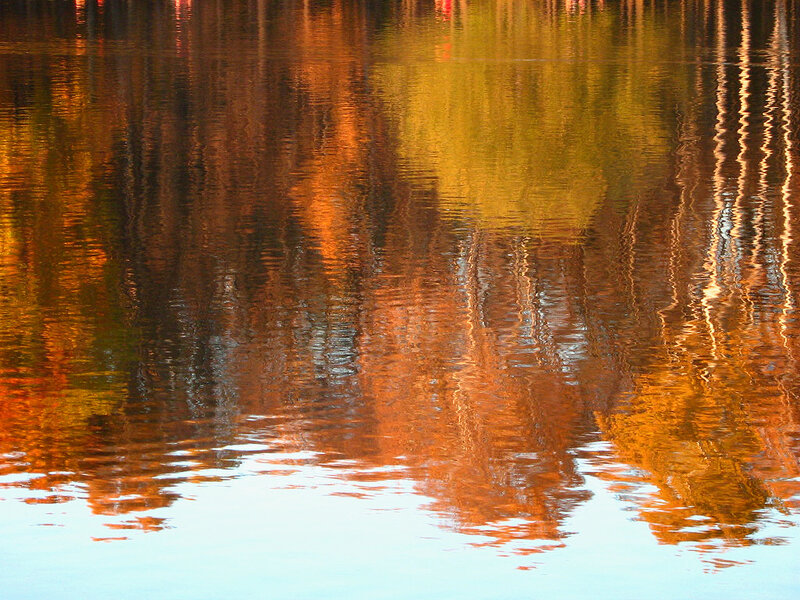 Отражение осени в пруду