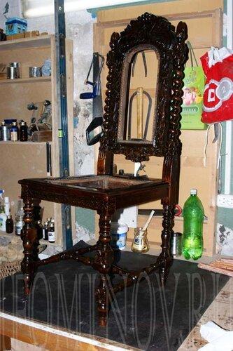 как отреставрировать антикварный стул, реставрация старины.