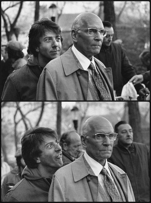 редкие фото,Dustin Hoffman and Laurence Olivier