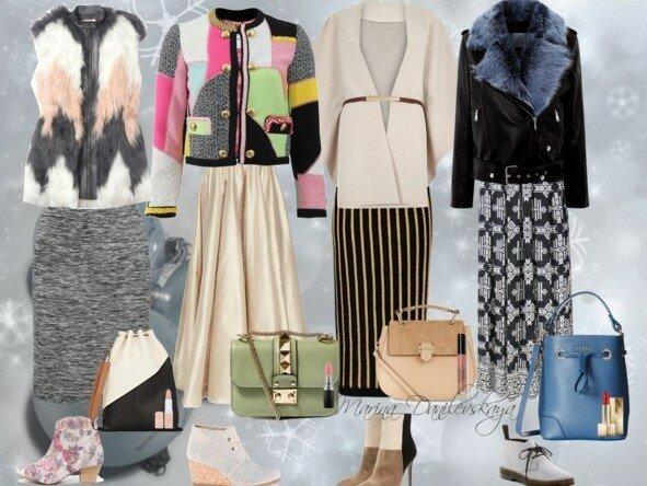 LOOK ЗИМа Ботильоны + длинная юбка Сайт ЖЕНЩИНА Одежда для полных Marina Danilewskaya