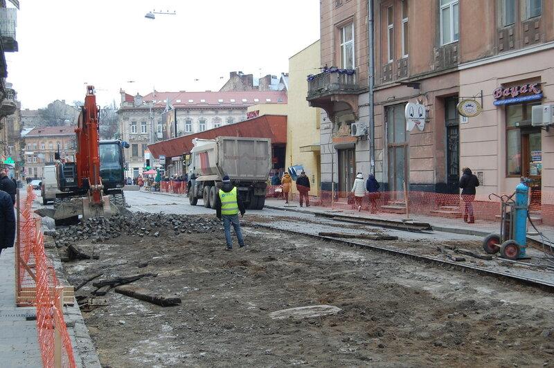 ремонт улицы Ивано Франко во Львове