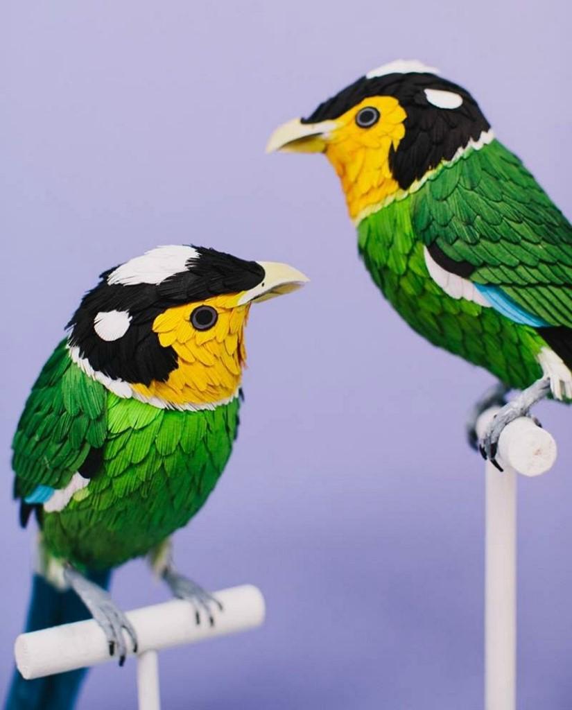 картинки как делать из бумаги птицу инструкция в картинках