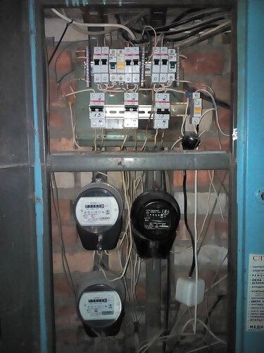 Замена электросчётчика в Колтушах.