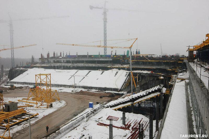 Ход строительства стадиона Самара-Арена март 2016