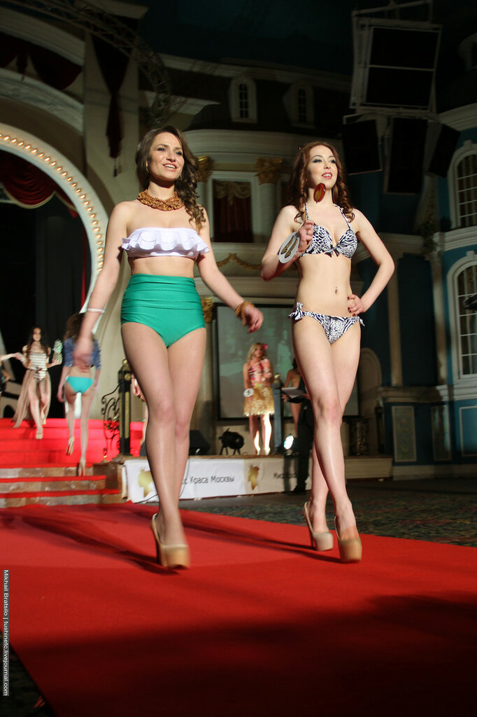 Moscow Miss Beauty 2016. Swimsuit defile