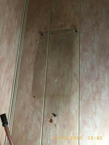 Осталось приготовить крепёж на стене