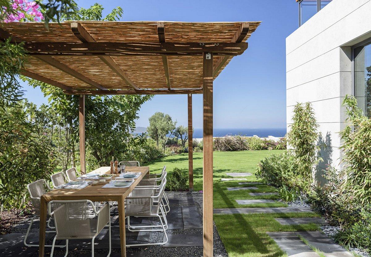 Y House, Ofist, планировка частного дома, проект частного дома, частный дом в Турции, частные дома в Бодруме, особняки Турции фото, дом на берегу моря