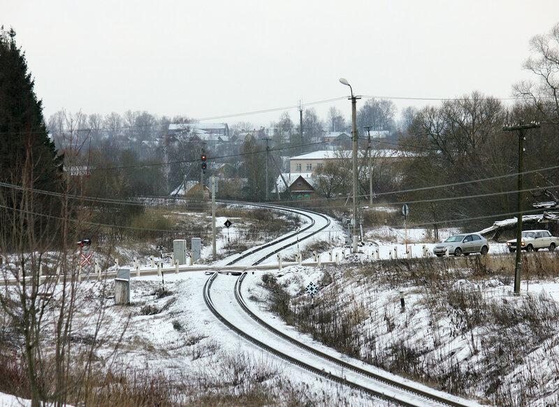 Входной светофор станции Невель-2 со стороны Горушек-Невельских