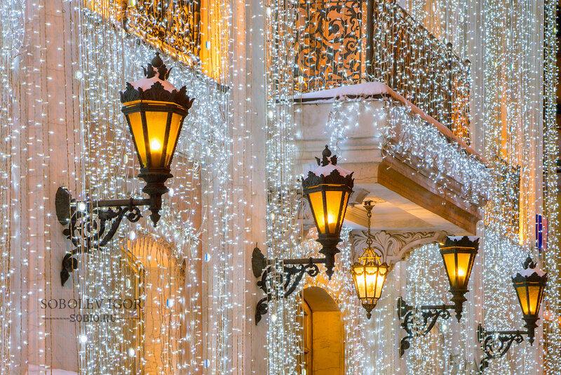 Новогодние огни в Москве