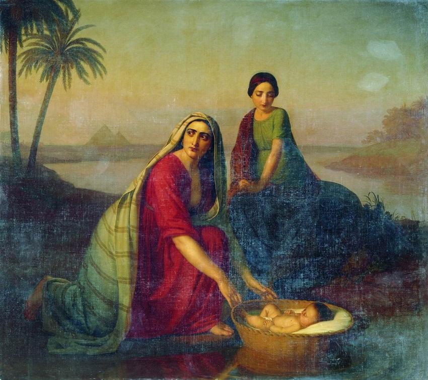 Моисей, опускаемый матерью на воды Нила.jpg