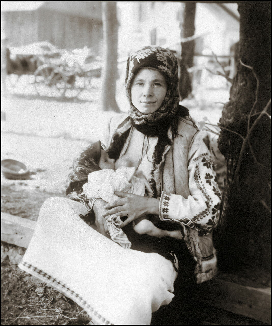 Молодая мать. Район Рогатина