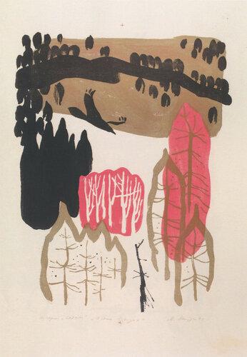 Осень в горах. Автолитография. 1972.jpg
