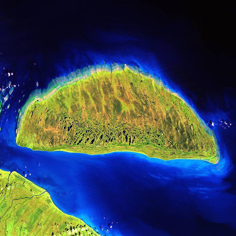 9. Во время последнего ледникового периода остров Акимиски в канадском заливе Джеймс лежал под обшир