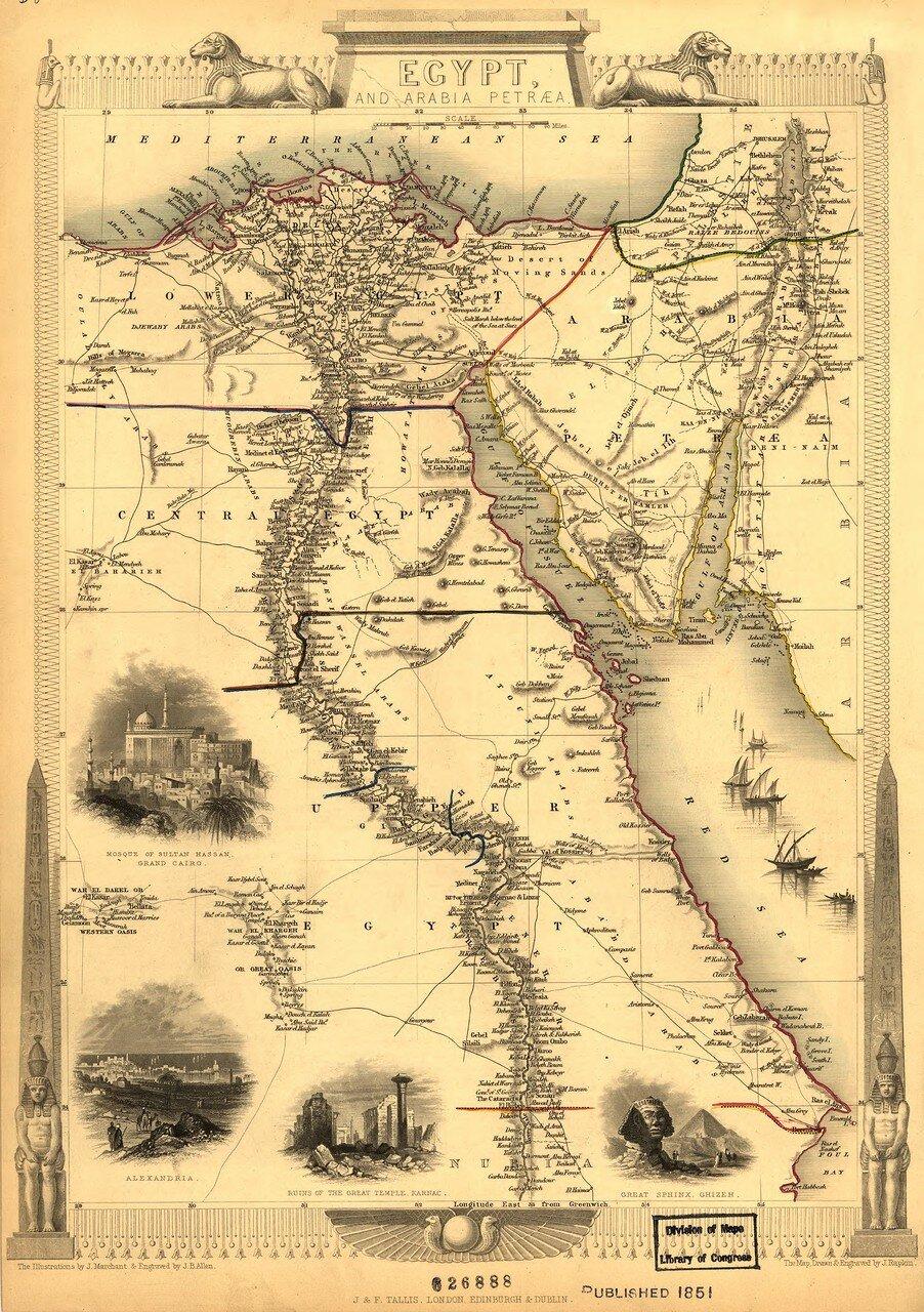 1851. Египет и Аравия