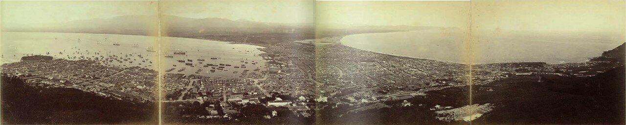 1880. Панорама Хакодате, Хоккайдо