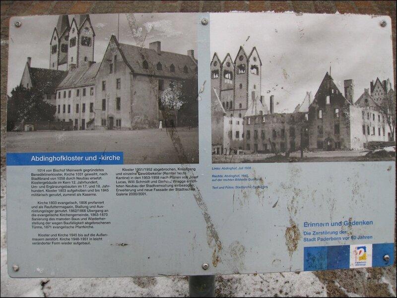 Фотографии Абдингхоф до и после войны, Падерборн
