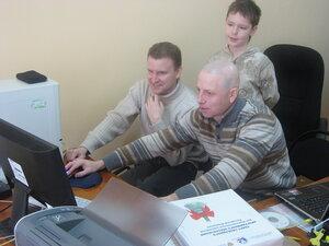 Дима и Женя сражаются с директорской Vista.