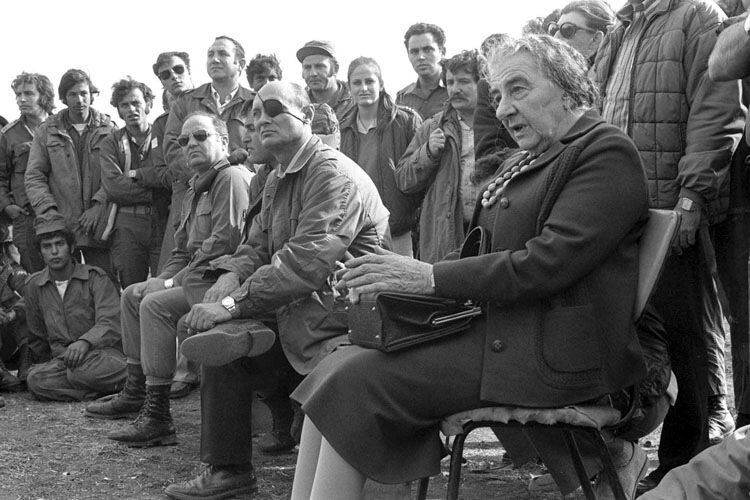 Голда Меир и Моше Даян