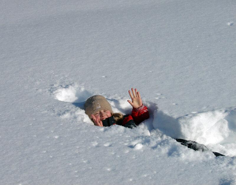 Картинки упал на снегу