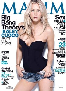 Kaley Cuoco (The Big Bang Theory) в журнале Maxim