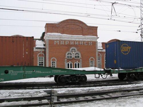 Центральная часть вокзала станции Мариинск