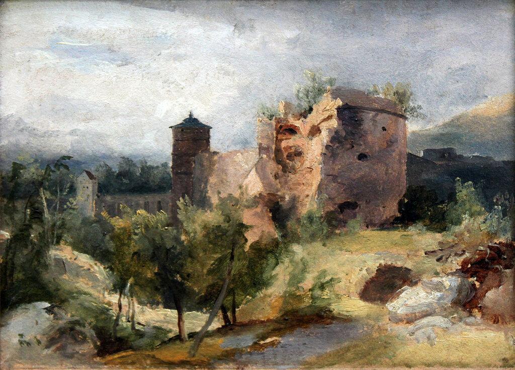 1830_Blechen_Turm_des_Heidelberger_Schlosses_anagoria.JPG