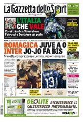 Журнал La Gazzetta dello Sport  (31 Agosto 2015)