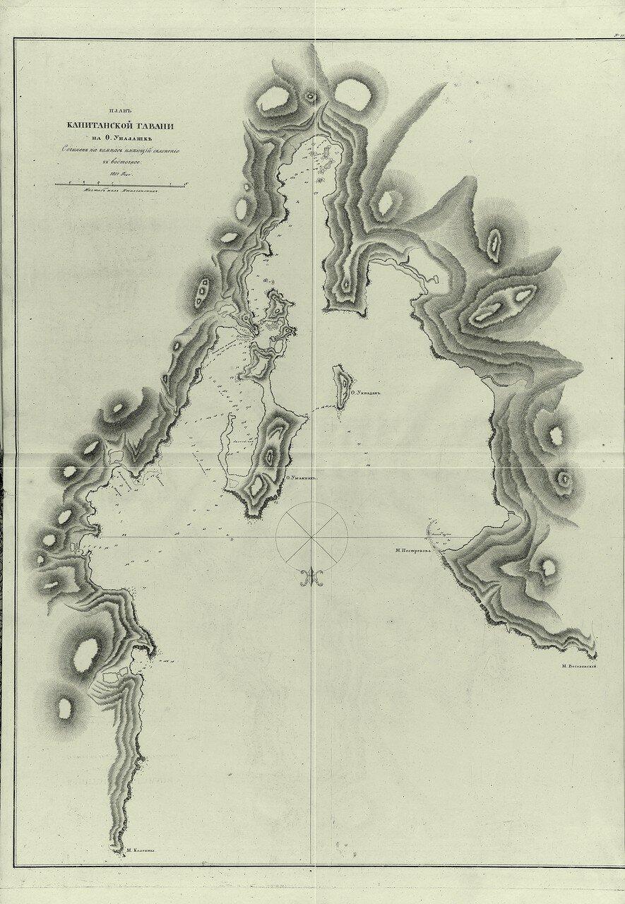 11. План Капитанской гавани на О. Уналашке. Сочинен на компас имеющий склонение 22' восточное. 1817 года.