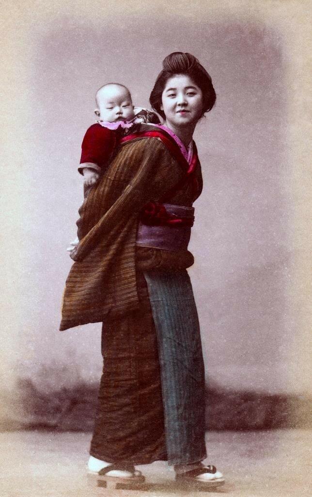 Гейша с ребенком