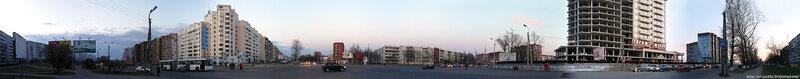 Панорама перекрестка Рижского проспекта и улицы Юбилейной