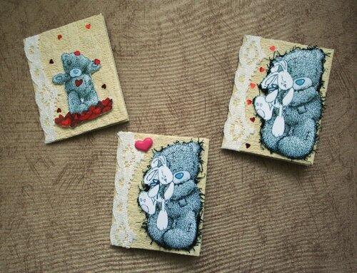 Валентинки мишки Тедди