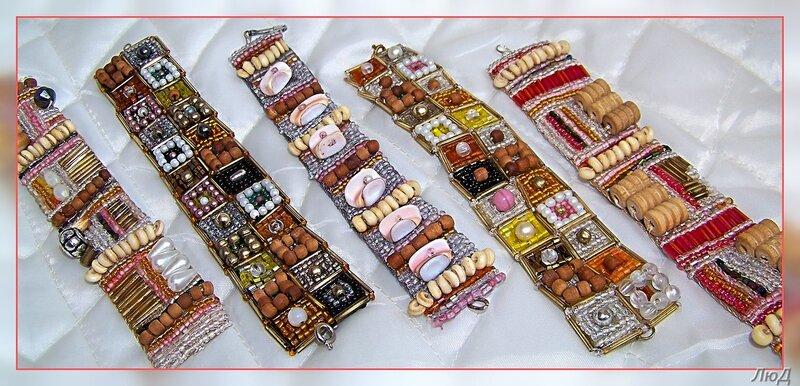 Вот такие необычные браслеты из бисера и натуральных камней делает Людмила.  Фото с меткой. lyudmiladanko. бижутерия.