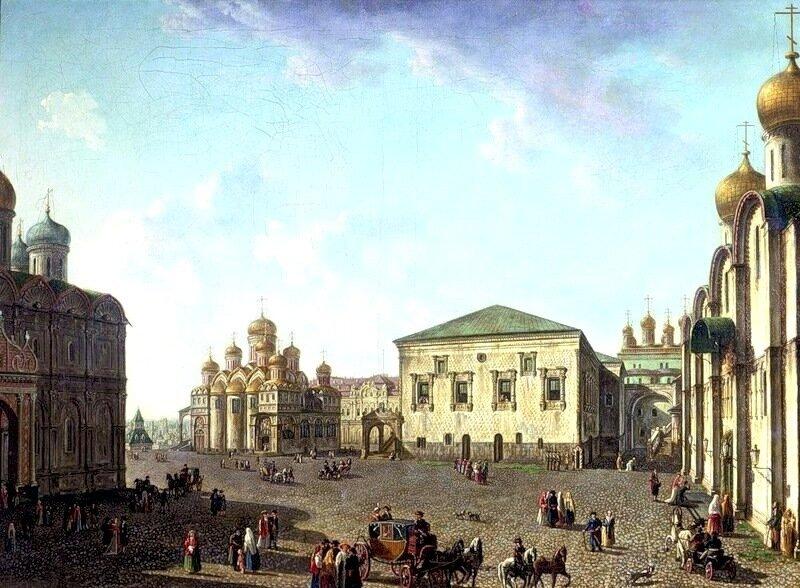 Соборная площадь. Благовещенский собор и Грановитая палата..jpg