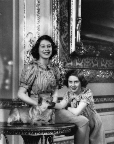 NPG P140(17), Queen Elizabeth II; Princess Margaret