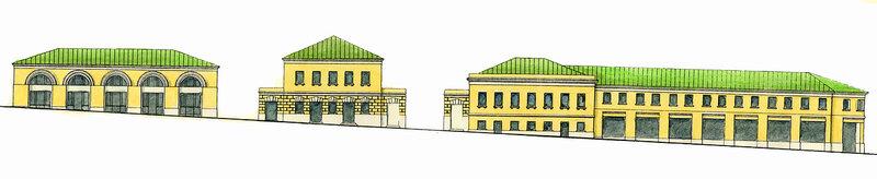 Северная сторона Хитровской площади. Торговые ряды, построенные Хитрово.