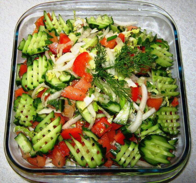 Фото салаты из свежих овощей