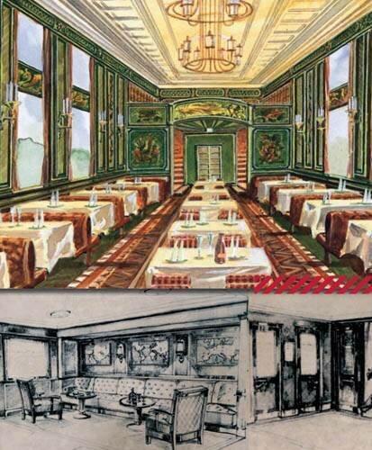 Вагон-ресторан и вестибюли спальных вагонов