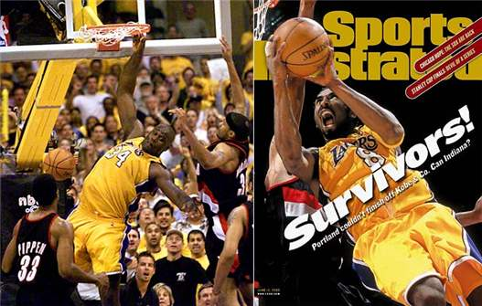 2000s Top 10 NBA Games - Lakers - Blazers 89-84 / 7-я игра Западного финала 2000