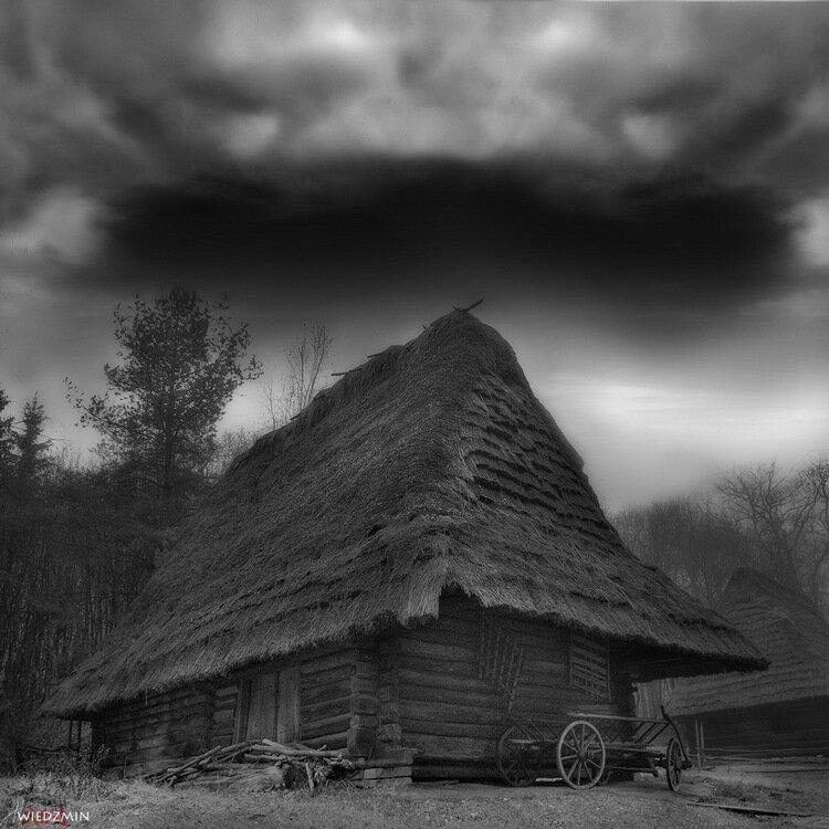 хуторок в ч/б - Раздел путешествия - Фотография на фотосайте.