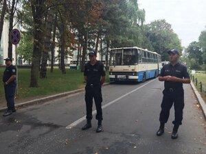 Полиция установила дополнительные кордоны в центре Кишинёва