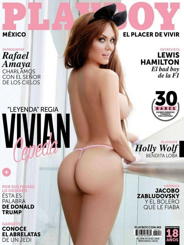 Vivian Cepeda in Playboy Mexico august 2015.