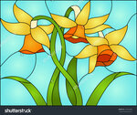 stock-vector-daffodils-spring-flower-love-symbol-of-wales-stained-glass-window-187662086.jpg