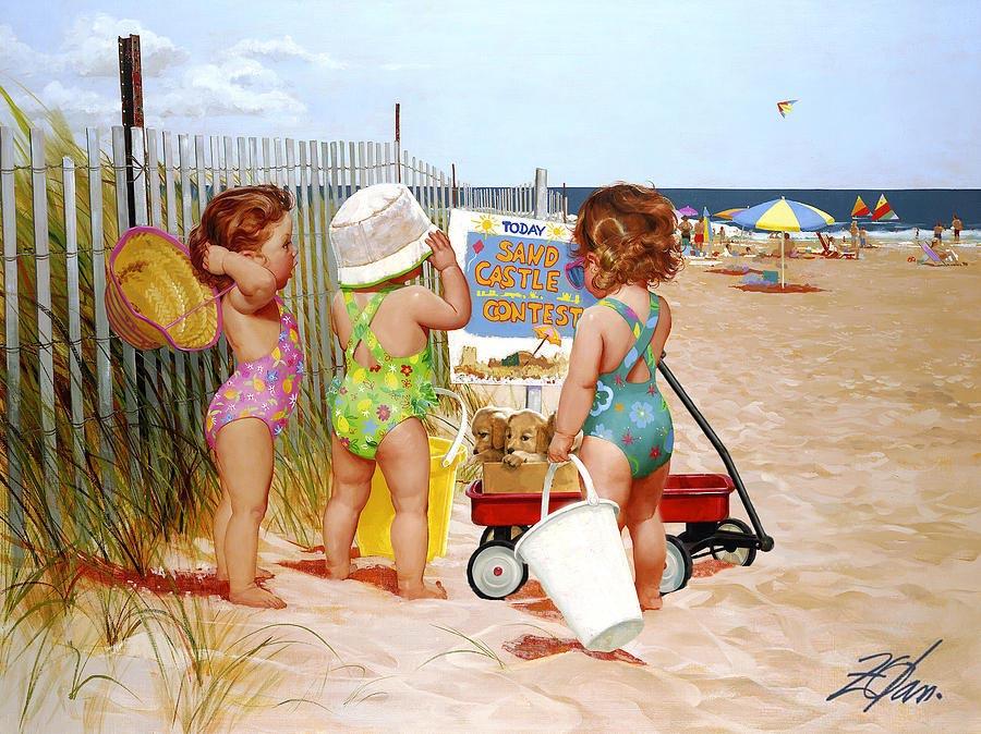 Наливай, открытки детки и море