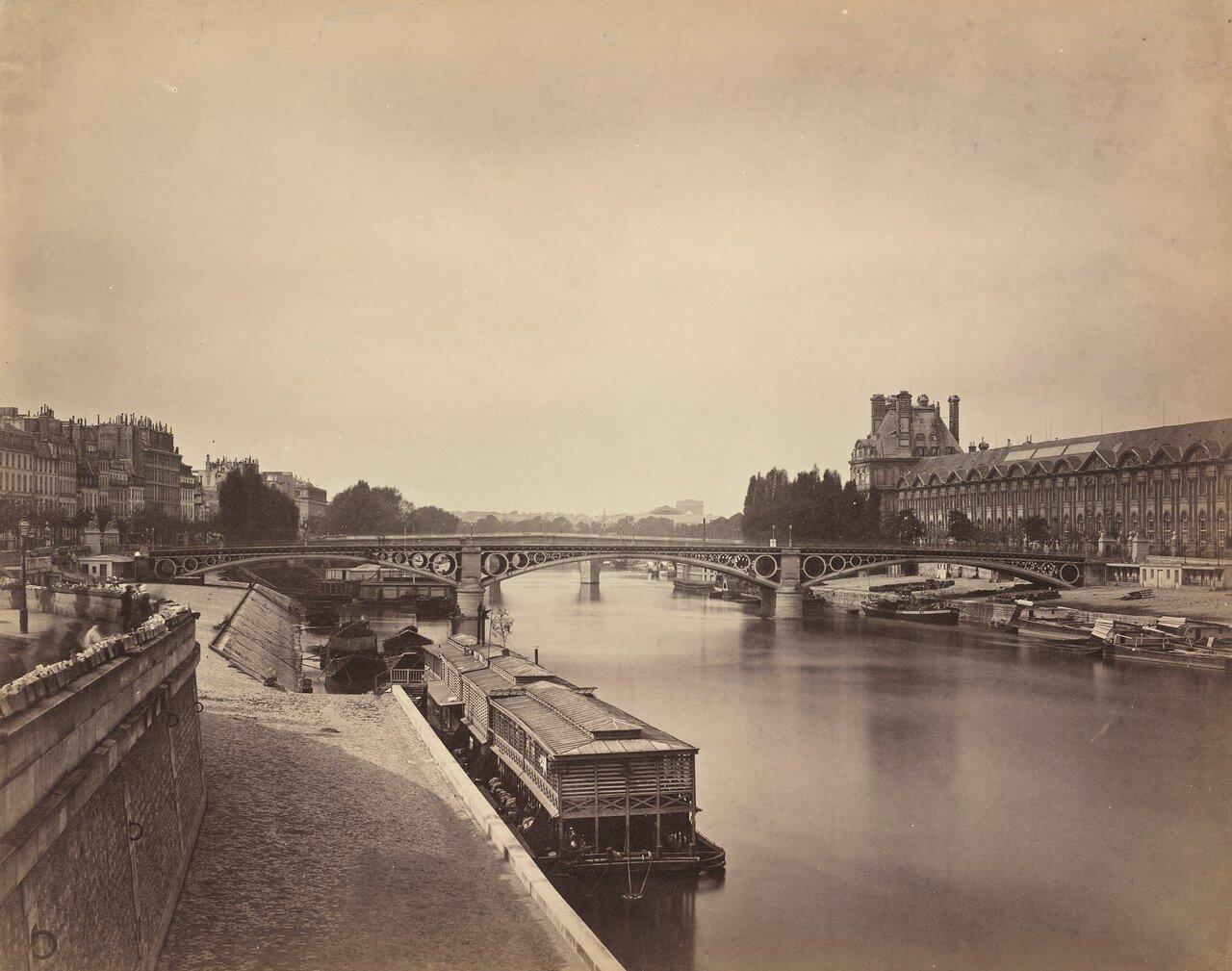 1856-1858. Мост Каррузель. Вид со стороны Моста Искусств